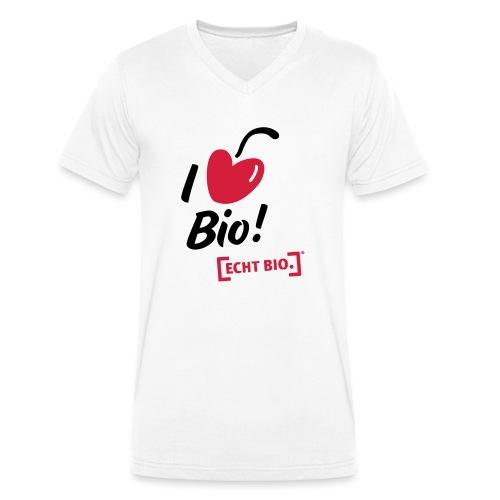 I love Bio! - Männer Bio-T-Shirt mit V-Ausschnitt von Stanley & Stella