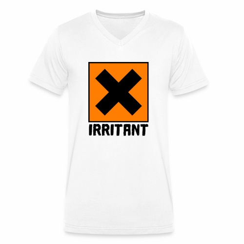 IRRITANT - T-shirt ecologica da uomo con scollo a V di Stanley & Stella