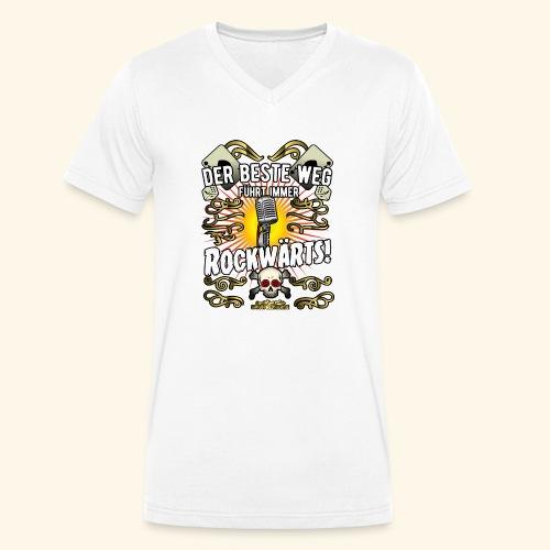 Rock Music Shirt ROCKWÄRTS - Männer Bio-T-Shirt mit V-Ausschnitt von Stanley & Stella