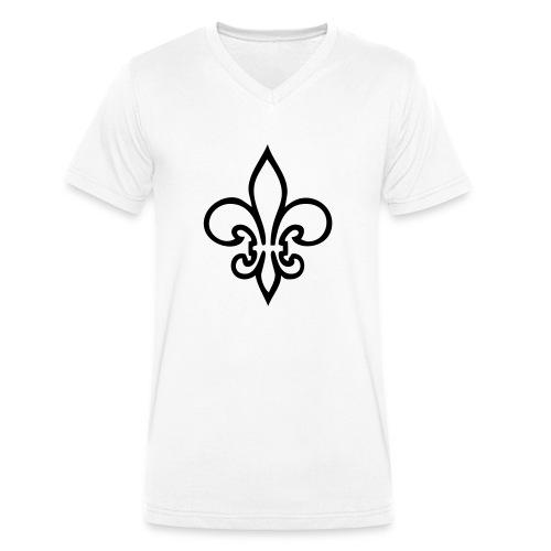 Lilie - Männer Bio-T-Shirt mit V-Ausschnitt von Stanley & Stella