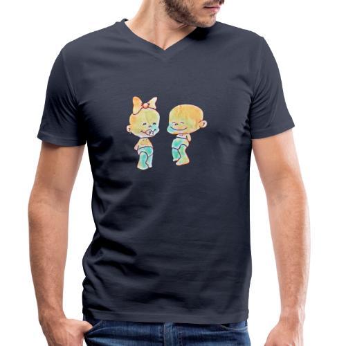 Bambini innamorati - T-shirt ecologica da uomo con scollo a V di Stanley & Stella