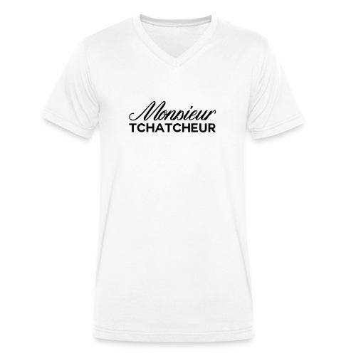 monsieur tchatcheur - T-shirt bio col V Stanley & Stella Homme