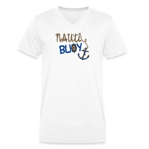 Nauti Buoy Nautical Boat Tee - Men's Organic V-Neck T-Shirt by Stanley & Stella