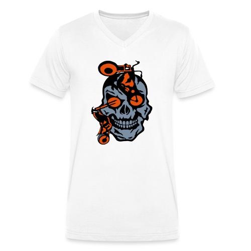 tete mort moto motrocycle oeil skull - T-shirt bio col V Stanley & Stella Homme