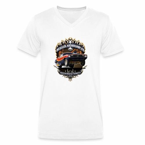 Barracuda Road Burn - Men's Organic V-Neck T-Shirt by Stanley & Stella
