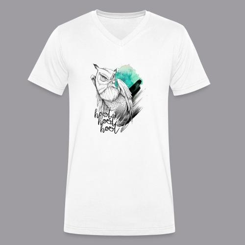 HootHoot - Männer Bio-T-Shirt mit V-Ausschnitt von Stanley & Stella