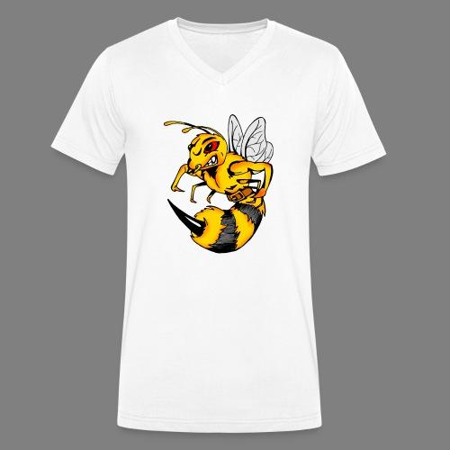 Wespe - Männer Bio-T-Shirt mit V-Ausschnitt von Stanley & Stella