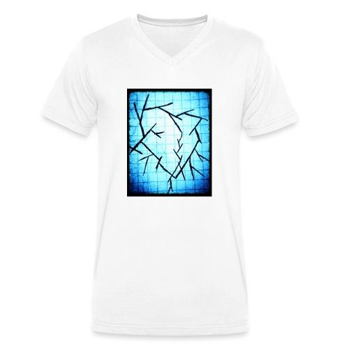 Frozen broken heart - Økologisk Stanley & Stella T-shirt med V-udskæring til herrer