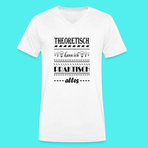 Theoretisch - Männer Bio-T-Shirt mit V-Ausschnitt von Stanley & Stella
