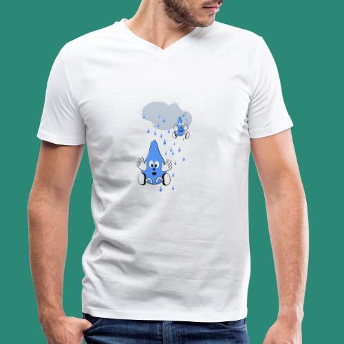 Regen,Regen - Männer Bio-T-Shirt mit V-Ausschnitt von Stanley & Stella