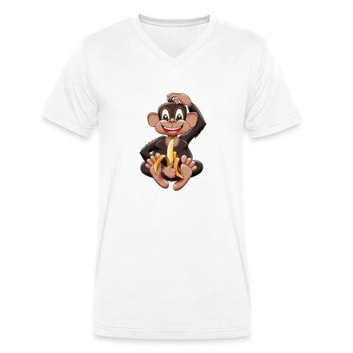 Bananenaffe - Männer Bio-T-Shirt mit V-Ausschnitt von Stanley & Stella