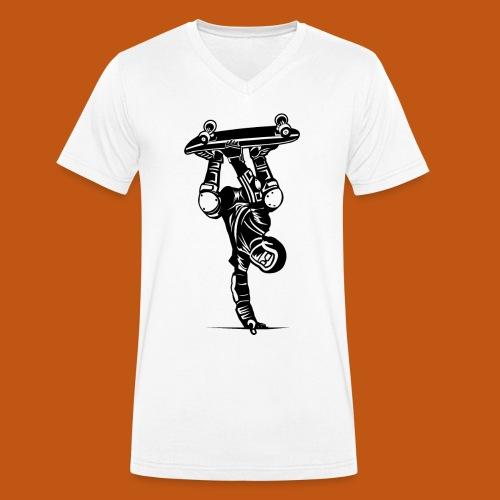 Skater / Skateboarder 02_schwarz - Männer Bio-T-Shirt mit V-Ausschnitt von Stanley & Stella