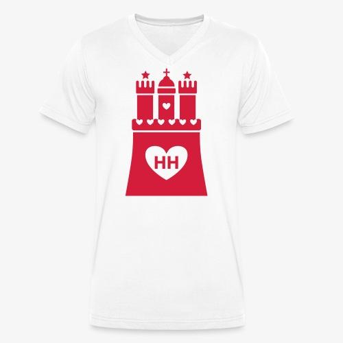 Ich liebe Hamburg 1c - Männer Bio-T-Shirt mit V-Ausschnitt von Stanley & Stella