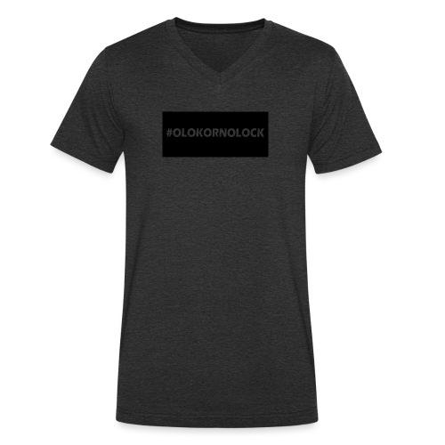 #OLOKORNOLOCK - Ekologisk T-shirt med V-ringning herr från Stanley & Stella