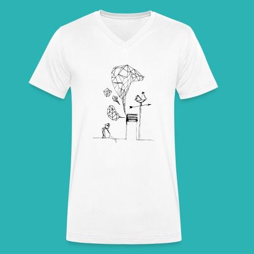 Carta_gatta-png - T-shirt ecologica da uomo con scollo a V di Stanley & Stella