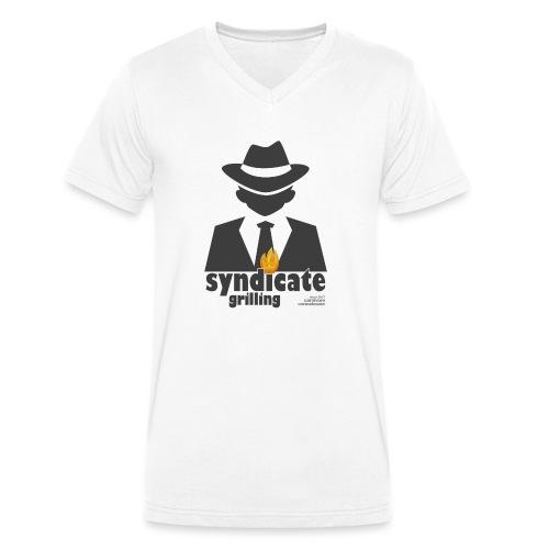 Syndicate Grilling - Mafia Grillshirt - Männer Bio-T-Shirt mit V-Ausschnitt von Stanley & Stella