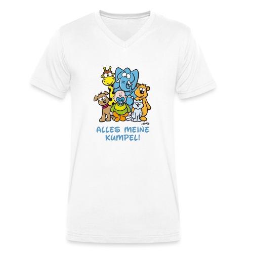 Alles meine Kumpel - Männer Bio-T-Shirt mit V-Ausschnitt von Stanley & Stella