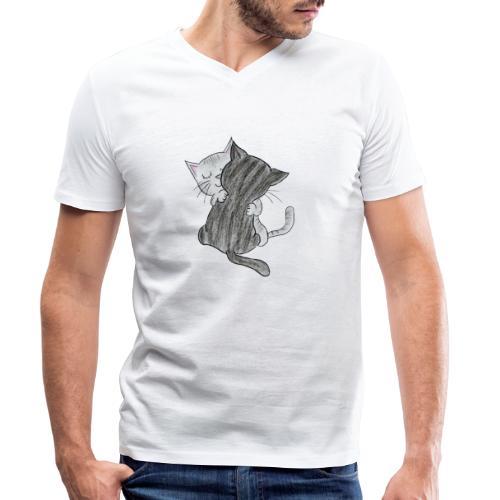 Katzen - Männer Bio-T-Shirt mit V-Ausschnitt von Stanley & Stella