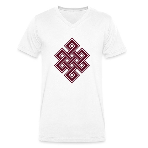 Endlos Knoten, Tibet, Unendlich, Buddhismus, Glück - Männer Bio-T-Shirt mit V-Ausschnitt von Stanley & Stella