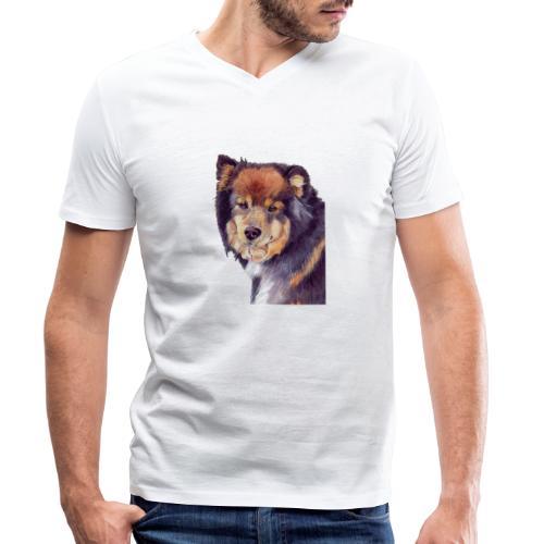 finnish lapphund - Økologisk Stanley & Stella T-shirt med V-udskæring til herrer