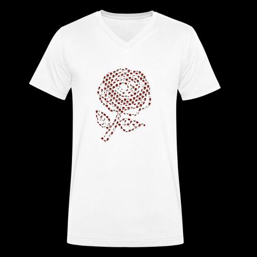 Rose aus Rosen - Männer Bio-T-Shirt mit V-Ausschnitt von Stanley & Stella