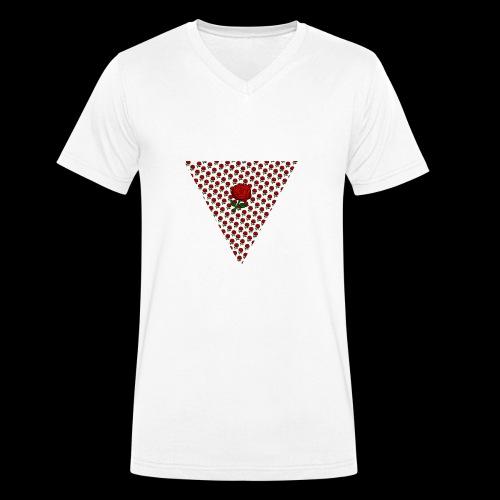 Dreieck Rose - Männer Bio-T-Shirt mit V-Ausschnitt von Stanley & Stella