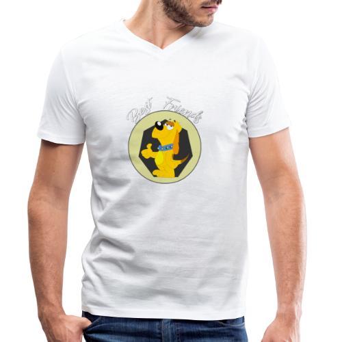 Best friends - Camiseta ecológica hombre con cuello de pico de Stanley & Stella
