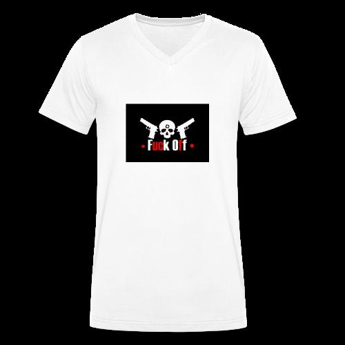 Fuck Off - Ekologisk T-shirt med V-ringning herr från Stanley & Stella