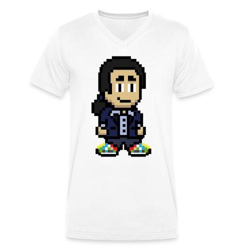 Masud Logo - Männer Bio-T-Shirt mit V-Ausschnitt von Stanley & Stella