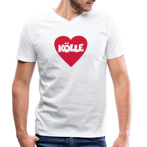 I Love Kölle - Ein Herz für Köln - Männer Bio-T-Shirt mit V-Ausschnitt von Stanley & Stella