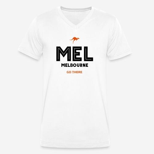 MELBOURNE! VAI LI! - T-shirt ecologica da uomo con scollo a V di Stanley & Stella