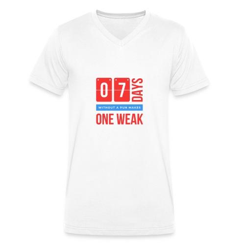 one week - T-shirt ecologica da uomo con scollo a V di Stanley & Stella