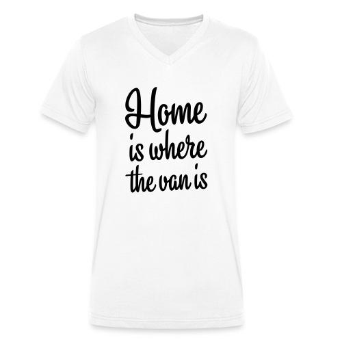 camperhome01b - Økologisk T-skjorte med V-hals for menn fra Stanley & Stella
