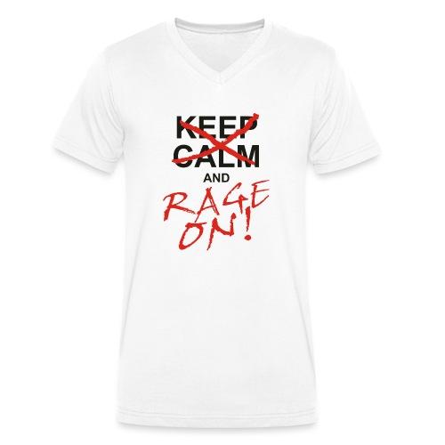 KEEP CALM and RAGE ON - black - Männer Bio-T-Shirt mit V-Ausschnitt von Stanley & Stella