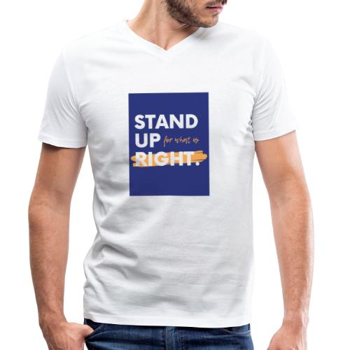 03723A0F FC04 4886 ACEC BB0A8F7400D9 - Men's Organic V-Neck T-Shirt by Stanley & Stella