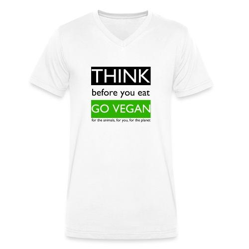go vegan - T-shirt ecologica da uomo con scollo a V di Stanley & Stella