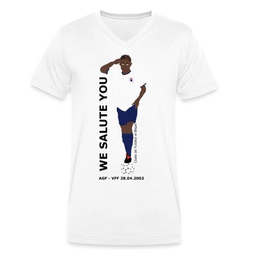 We Salute You - Økologisk Stanley & Stella T-shirt med V-udskæring til herrer