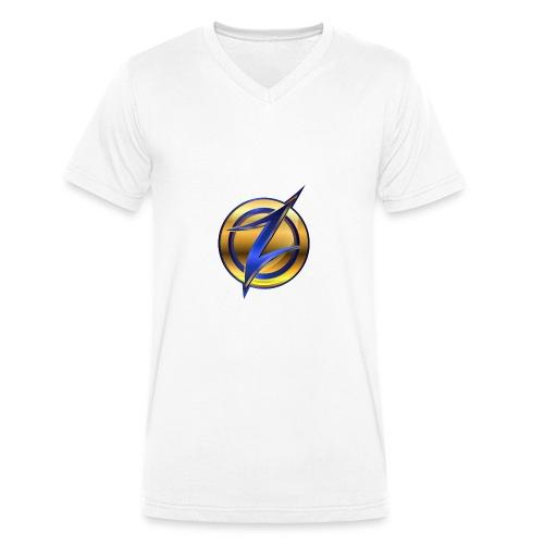 Zander logo - Men's Organic V-Neck T-Shirt by Stanley & Stella