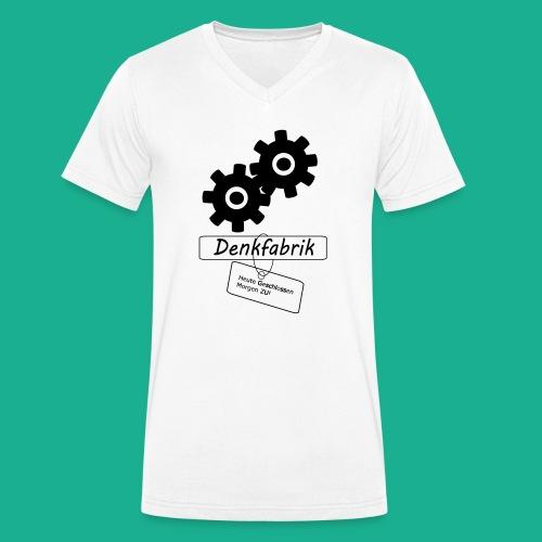 Denkfabrik - Männer Bio-T-Shirt mit V-Ausschnitt von Stanley & Stella