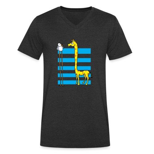 La girafe et l'échassier - T-shirt bio col V Stanley & Stella Homme