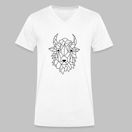 Bison - Men's Organic V-Neck T-Shirt by Stanley & Stella