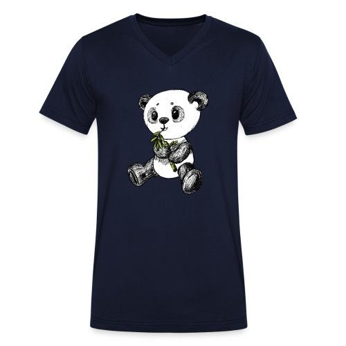 Panda Karhu värillinen scribblesirii - Stanley & Stellan miesten luomupikeepaita