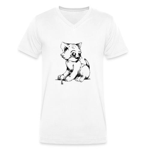 Chaton - T-shirt bio col V Stanley & Stella Homme