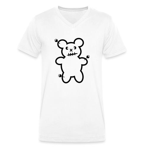 Vodoo Teddy - Männer Bio-T-Shirt mit V-Ausschnitt von Stanley & Stella