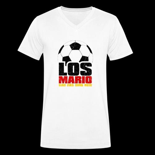 Fußball - Los Mario, hau das Ding rein (3c - Männer Bio-T-Shirt mit V-Ausschnitt von Stanley & Stella