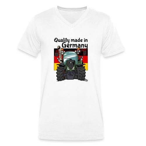 quality made in germany F - Mannen bio T-shirt met V-hals van Stanley & Stella