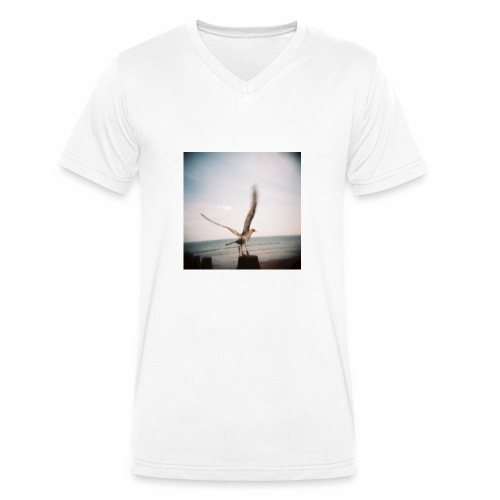 Original Artist design * Seagull - Men's Organic V-Neck T-Shirt by Stanley & Stella