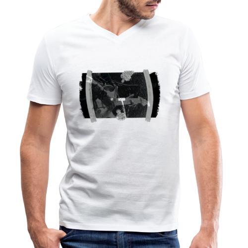 Men at Work (with black PS logo) - Økologisk Stanley & Stella T-shirt med V-udskæring til herrer
