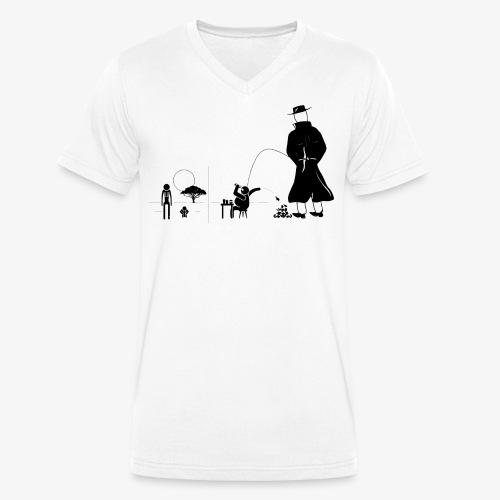 Pissing Man against a wasteful consumer society - Männer Bio-T-Shirt mit V-Ausschnitt von Stanley & Stella