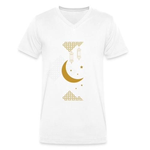 Ramadan Kareem Muslim holy month ilustration - Men's Organic V-Neck T-Shirt by Stanley & Stella